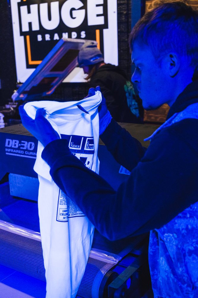 Before the shirts go to market, they are given one final inspection.