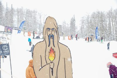 Wizards adorn the slopes.