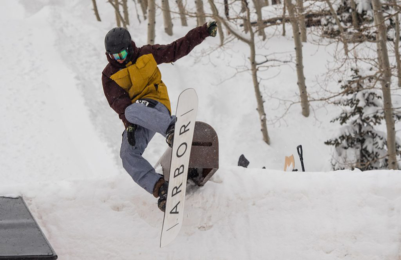 Austin Breen during men's open snow.