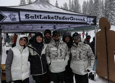 SLUG Mag team braves the cold for the event.