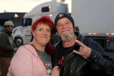Sarinda and Frank posing for a photo during a smoke break before heading in to watch the music. Photo: @Lmsorenson