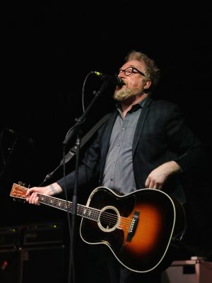 """""""Better late than never?!"""" Flogging Molly's Dave King laments the delay of the show after early March snowstorms and celebrates end of the tour. Photo: @Lmsorenson"""
