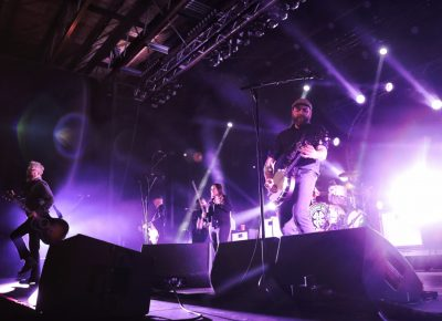 Flogging Molly on stage at the Complex in downtown Salt Lake City. Photo: @Lmsorenson