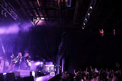 Swaths of fans, hands in the air and hearts full of music while Flogging Molly plays on. Photo: @Lmsorenson