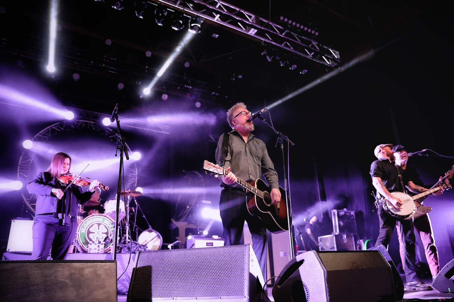 "Flogging Molly playing fan favorites from their Float album such as ""(No More) Paddy's Lament,"" ""Requiem for a Dying Song"" and title track ""Float."" Photo: @Lmsorenson"