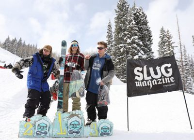 Men's open ski winners Hayden Gellesen, Bagesd Baker, Tucker Fitsimmons