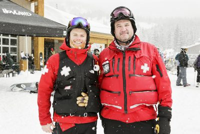 Morgan Eliasen and Tim Bachman from the National Ski Patrol on duty!