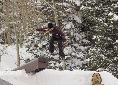 2nd Place Women's Open Snow – Lexie Bryner, sending it off the mailbox