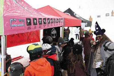 Pit Viper, Izm Apparel and Arbor Collective brought SLUG Games: Winter Wizardry spectators the goods they crave, with MC/Wizard Rad Brad keeping the stoke high