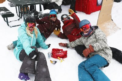 Friends hanging out on the slopes!