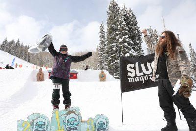 Women's open ski winner Isabel Parada