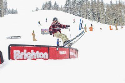 Tucker Fitzsimons took first at Men's Open Ski during 2019 Slug Games at Brighton.