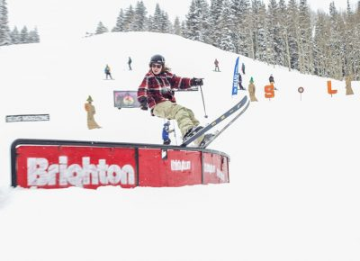 Tucker Fitzsimons took first at Men's Open Ski during 2019 Slug Games at Brighton.