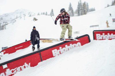Winner of Men's Open Ski Tucker Fitzsimons.