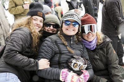 Natalia Veach, Linsday Holland, Sara Staschke, and Sophie LeVert having a good time.
