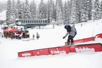 Bagerd Baker- third at Men's Open Ski during 2019 Slug Games at Brighton.