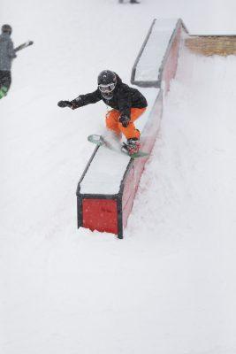 Ashton Davis shredding down the course.