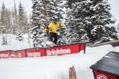 Bryan Watson's stylish tail press on a wave rail.