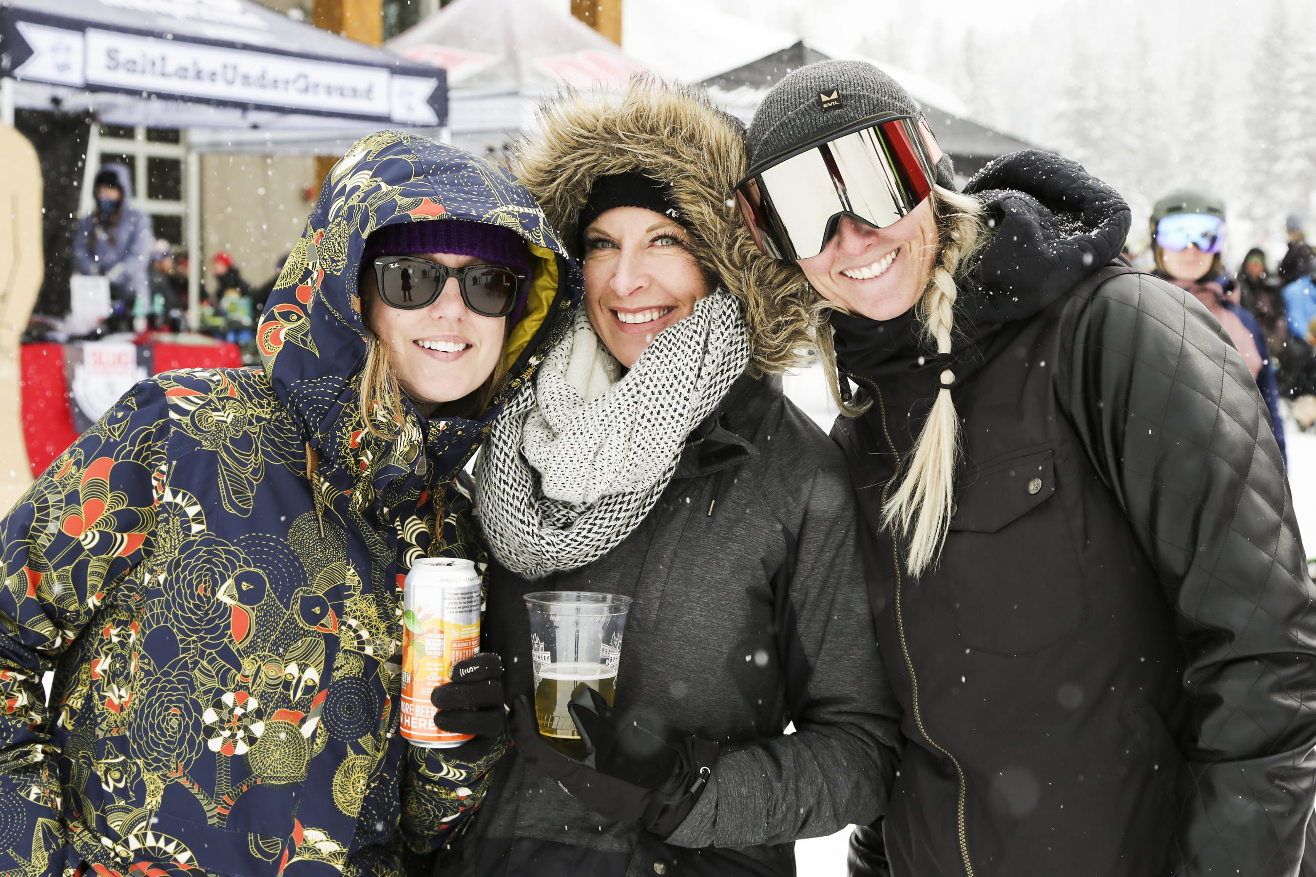Jessica Singer, Amy Hawkins, and Ashley park all enjoying the fun.