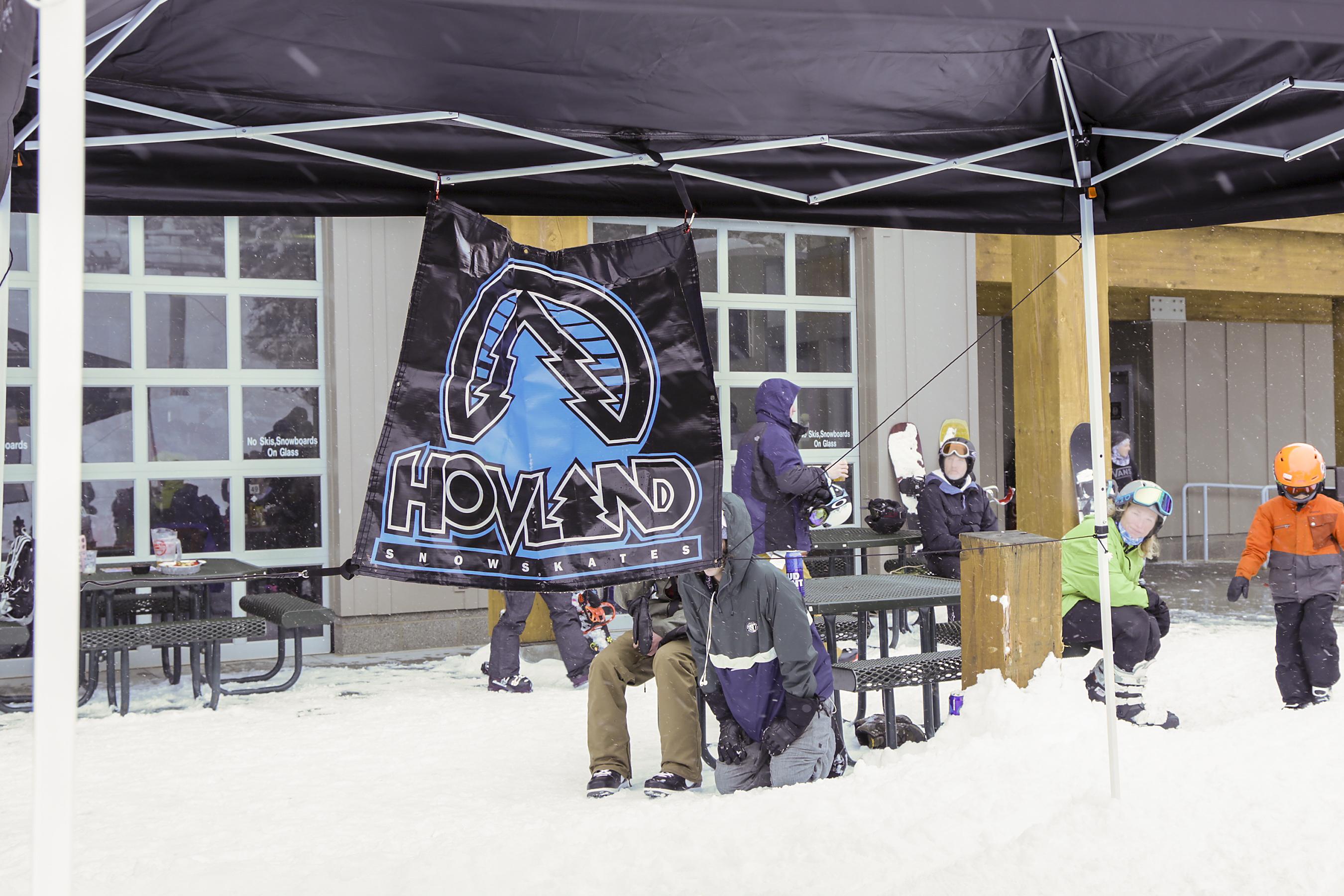 The sponsor Hovland Snowskates.