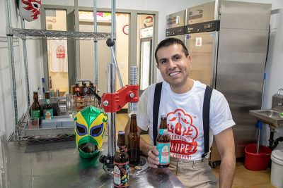 Javier Chávez Jr. makes small batches of Cerveza Zólupez with plans to increase production.