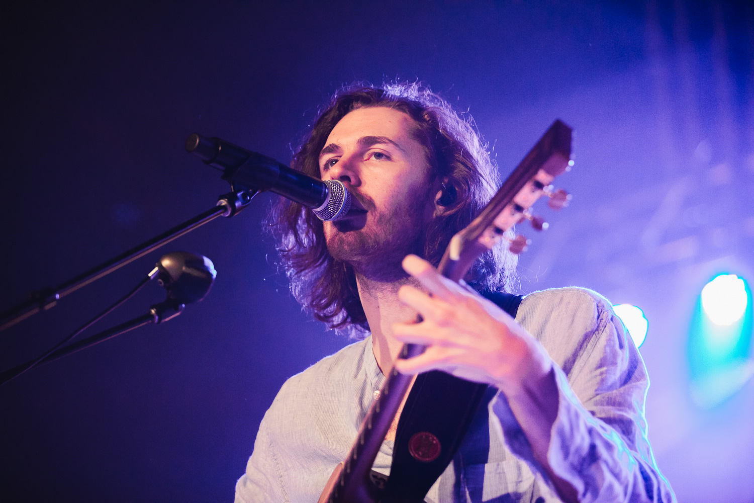 Hozier on stage in Salt Lake City and the Union Event Center. Photo: @Lmsorenson