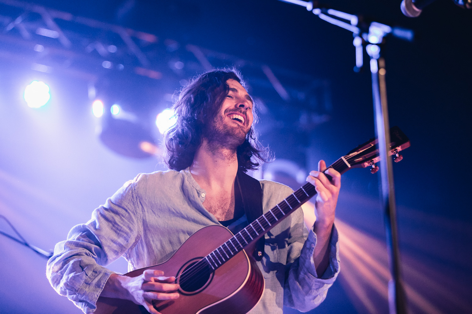 Part minstril, part folk-rock gangster Irish angel, Hozier playing in Salt Lake City. Photo: @Lmsorenson