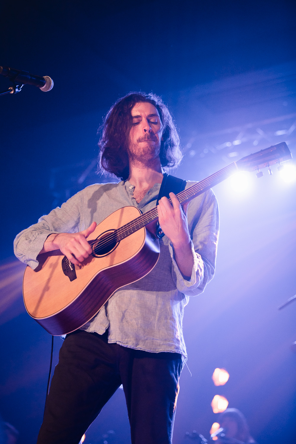Guitairst, singer and songwriter, Hozier playing in Salt Lake City. Photo: @Lmsorenson