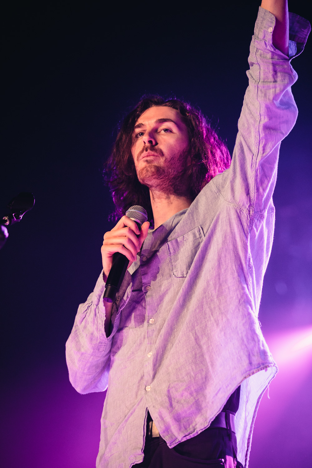 Hozier on stage in Utah at the Union Event Center in SLC. Photo: @Lmsorenson