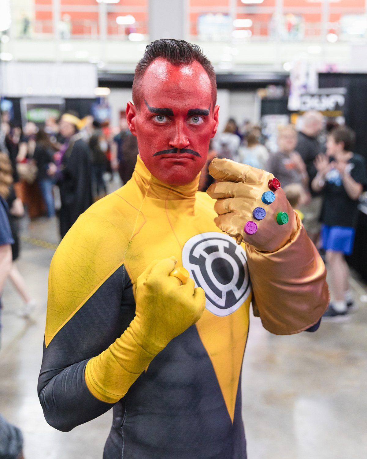 Matt Monson (@Maddmatter) cosplaying as the Green Lantern villain Sinestro at FanX19. Photo: @Lmsorenson
