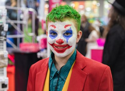 Ryder's cosplay of the newest version of the Joker from the upcoming film starring Joaquin Phoenix. Photo: @Lmsorenson