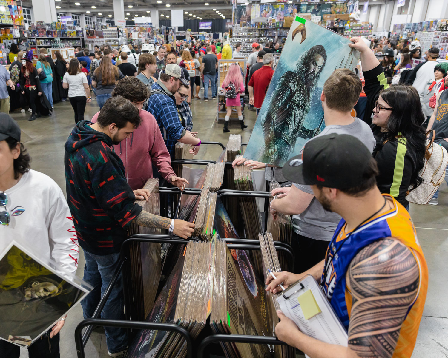 Everything nerdy for sale at FanX19 inclluding massive posters. Pro Tip: Have a plan for storing such large purchases during the con, or you will be stuck holding it all day... Photo: @Lmsorenson
