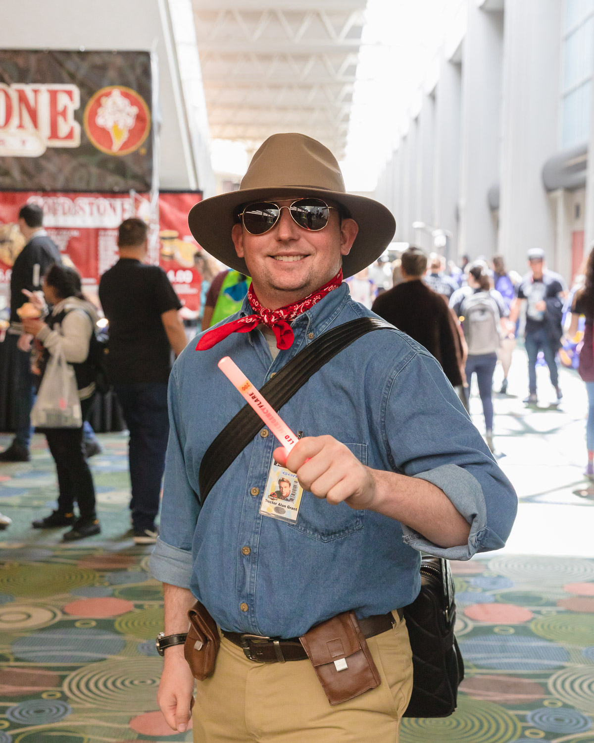 Ashton Norton, cosplaying as the jurassic wonder, Dr. Alan Grant. Photo: @Lmsorenson