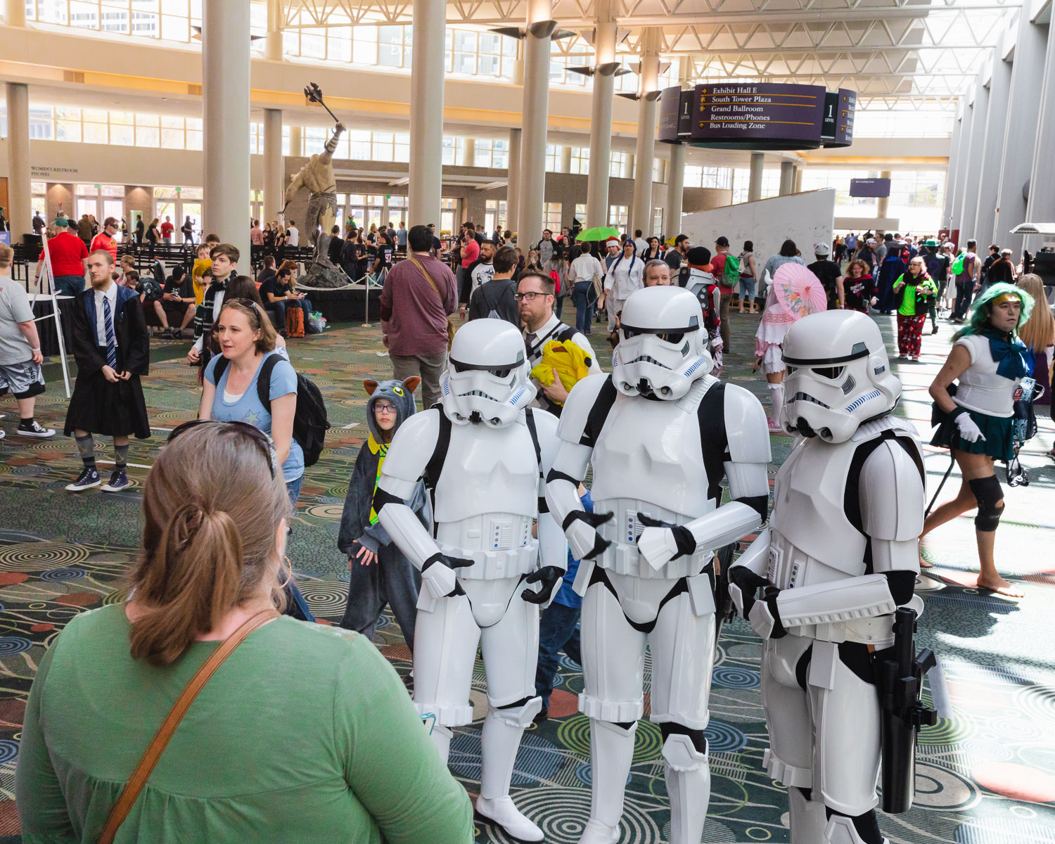 It's not a Comic Convention without a gaggle of Stormtroopers walking about. Photo: @Lmsorenson