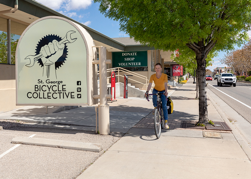 St. George Bicycle Collective Director Judith Rognli has helped the community focus on bicycle commuting and enabling different groups to feel empowered via bikes. Photo: Amy Osness