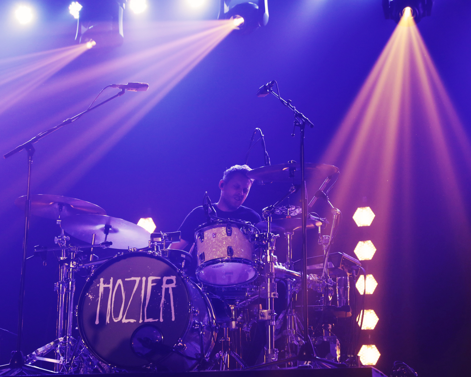 Drummer for Hozier keeping the beat. Photo: @Lmsorenson