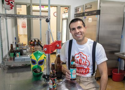Javier Chávez Jr. makes small batches of Cerveza Zólupez with plans to increase production.
