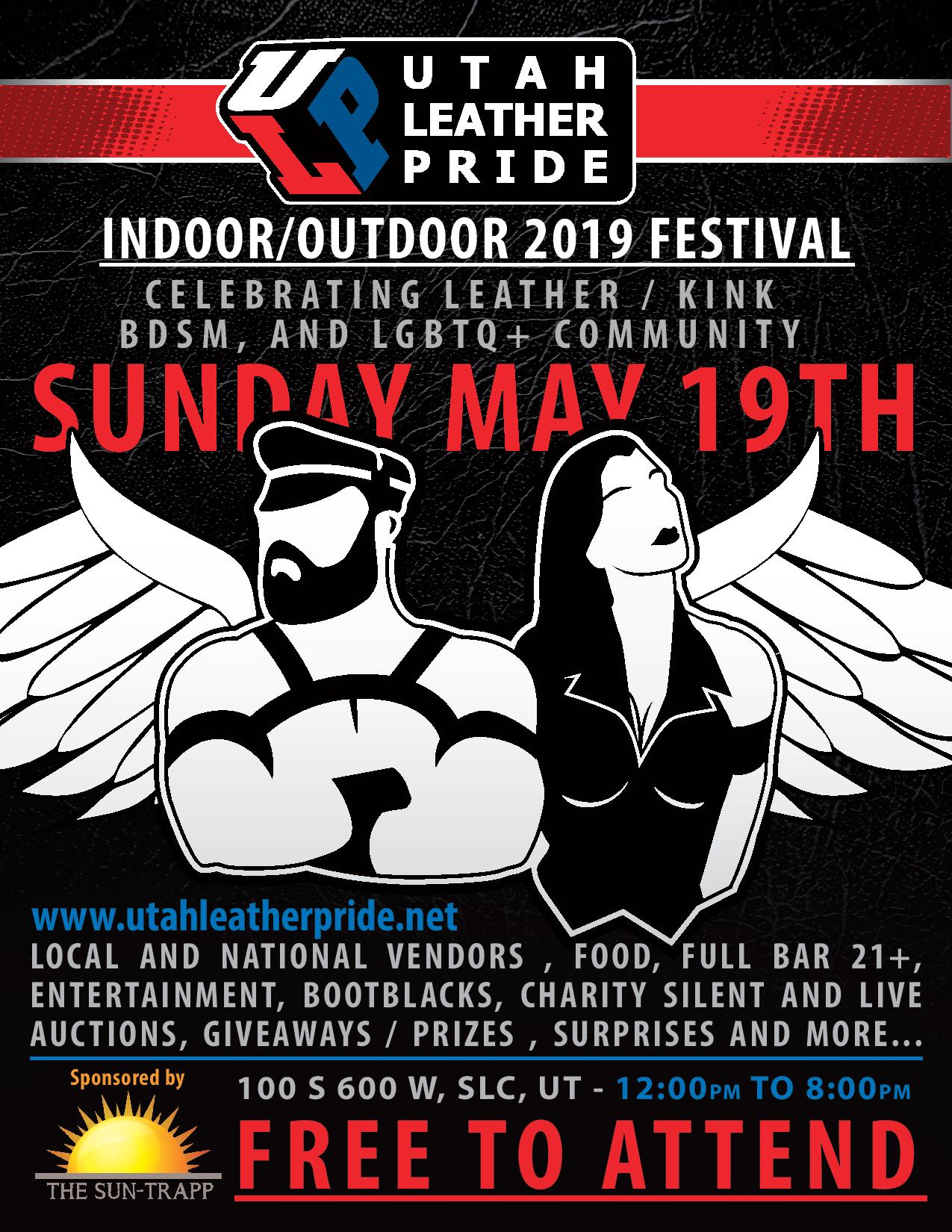 34f32387c25e7 The second annual Utah Leather Pride Festival will be held on Sunday May  19