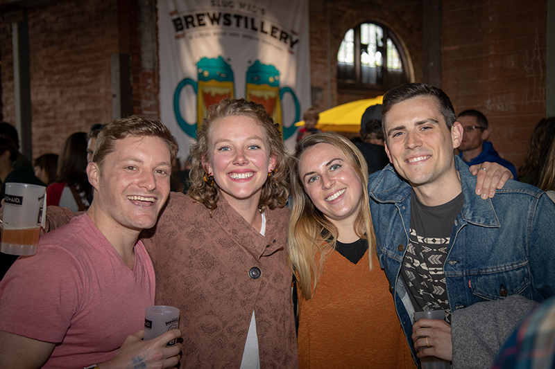 (L-R) Mike Brown, Hannah Martin, Esther Nemethy and Tyler Brennick met at Vermont's UVM. It's a bigger drinking scene back there, but they've noticed improvements in Salt Lake's growing scene. Photo: John Barkiple