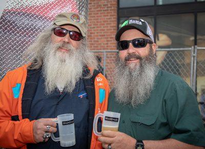 (L-R) Scott and David Ruster dropped tokens for Uinta Brewing Company's Test Phaze IPA. Photo: John Barkiple