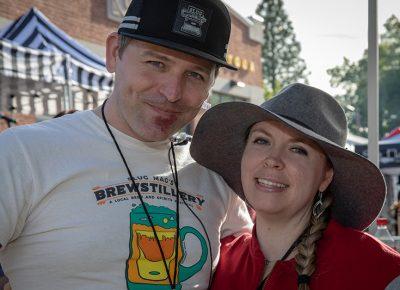 (L-R) John Ford and Bethanie Monsen-Ford enjoying their Saturday afternoon at Brewstillery. Photo: John Barkiple