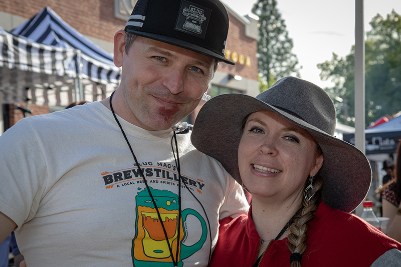 (L-R) John Ford and Bethanie Monsen-Ford enjoying their Saturday afternoon at Brewstillery. Photo: John Barkiple