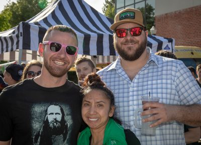 (L-R) Delaney Armijo, Morgan Carlson, and Andrew West are big fans of Bohemian and Zion Breweries. Photo: John Barkiple