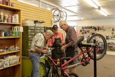 The St. George Bicycle Collective in action. Photo: Amy Osness
