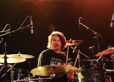 Nick Pillot, drummer for Bleached, playing in Salt Lake CIty. Photo: @Lmsorenson