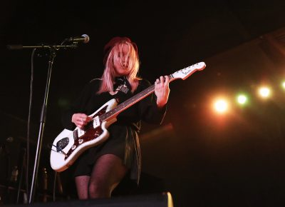 Jessica Clavin of Bleached, playing in Salt Lake City at the Union Event Center. Photo: @Lmsorenson