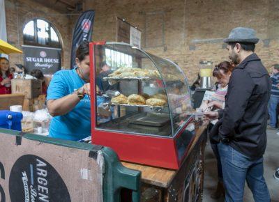 Argentina's Best Empanadas serving a customer. Photo: Jayson Ross