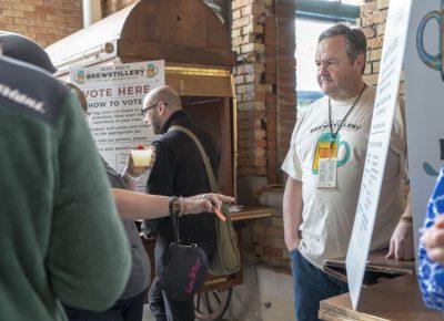 Steven Jerman taking voter tickets. Photo: Jayson Ross
