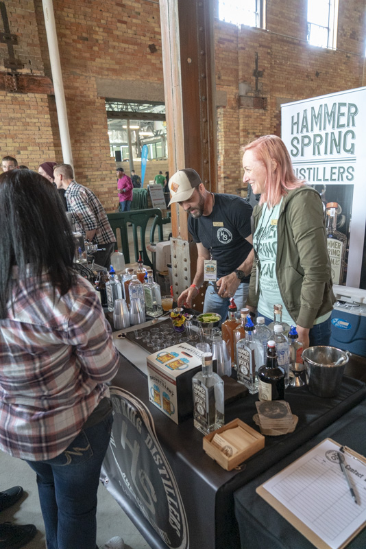 Hammer Spring Distillers mixing up some drinks. Photo: Jayson Ross