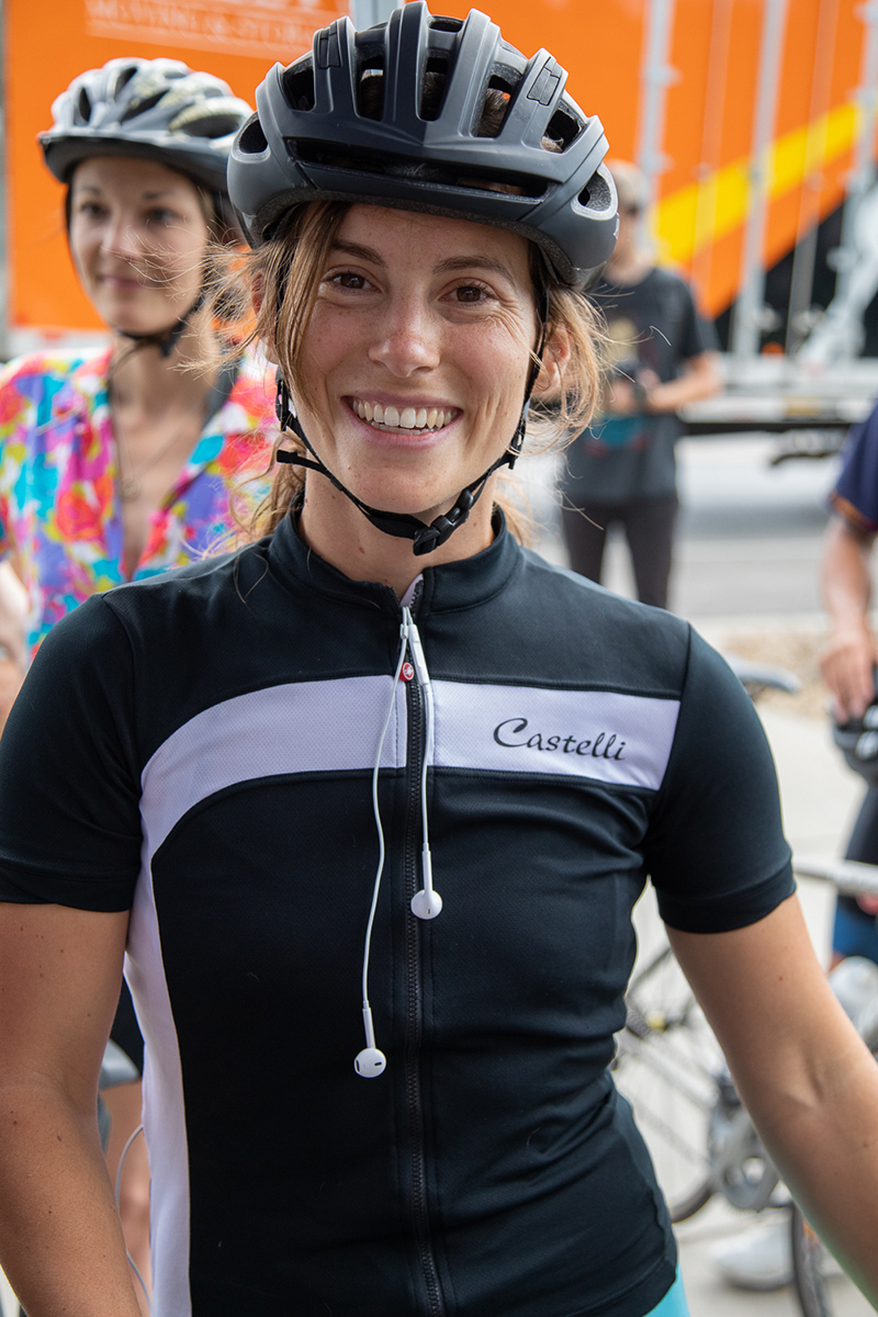 Melissa Ilardo took second place in the 2019 SLUG Cat. She ran a light in front of a police officer (on accident). There's something about the thrill of competition that makes rules easy to break. Photo: Kaylynn Gonazlez